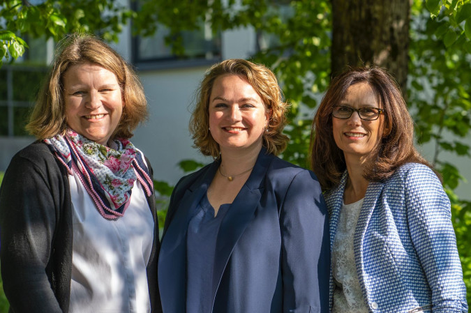 Das Leitungsteam der Musikschule Oberhaching - Carolin Bärhausen, Andrea Huber und Ingrid Zindler